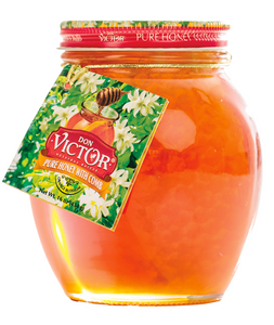 Don Victor 16oz Glass Globe Honey with Comb