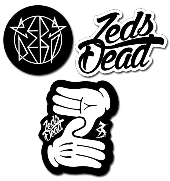 ZD - Vinyl Sticker - 3 Pack