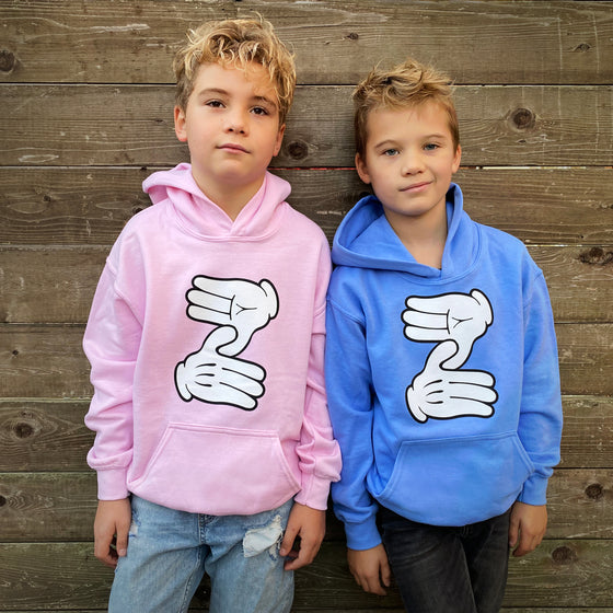 Zeds Kidz - Z Hands - Blue Youth Hoodie