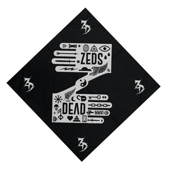 ZD -Icon Hands- Black Bandana