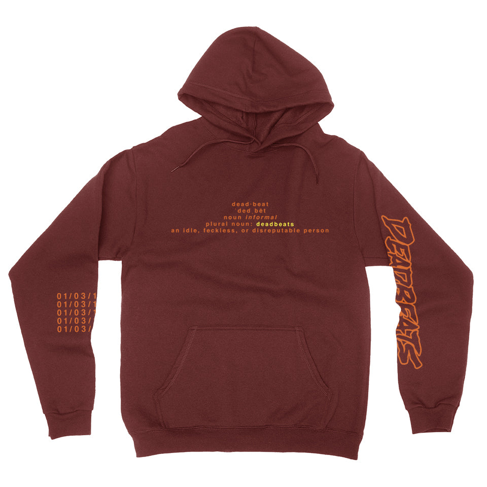 ZD - DEADBEATS Definition Of Deadbeats Pullover Hoodie