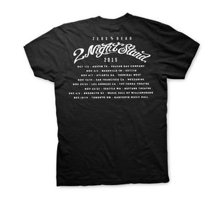ZD -2 Night Stand- Tour Black Tee