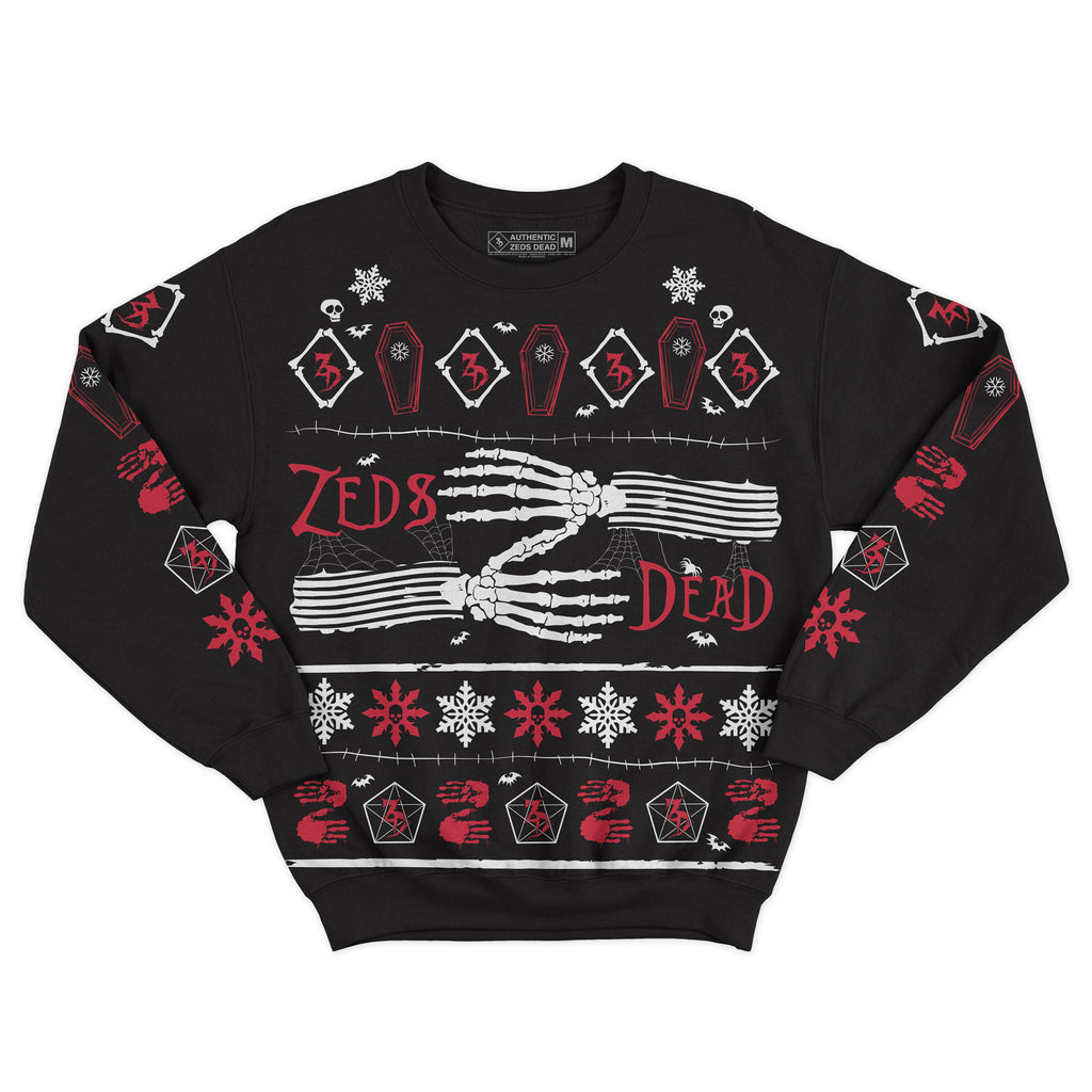 ZD - 2019 Holiday Jumper - Black w/ Red Print
