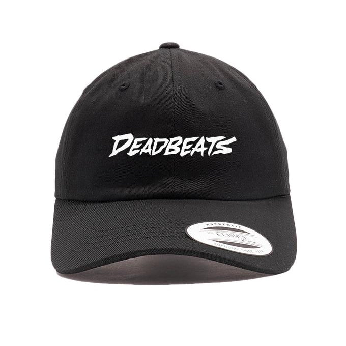ZD - DEADBEATS -Label Logo- Black Dad Hat
