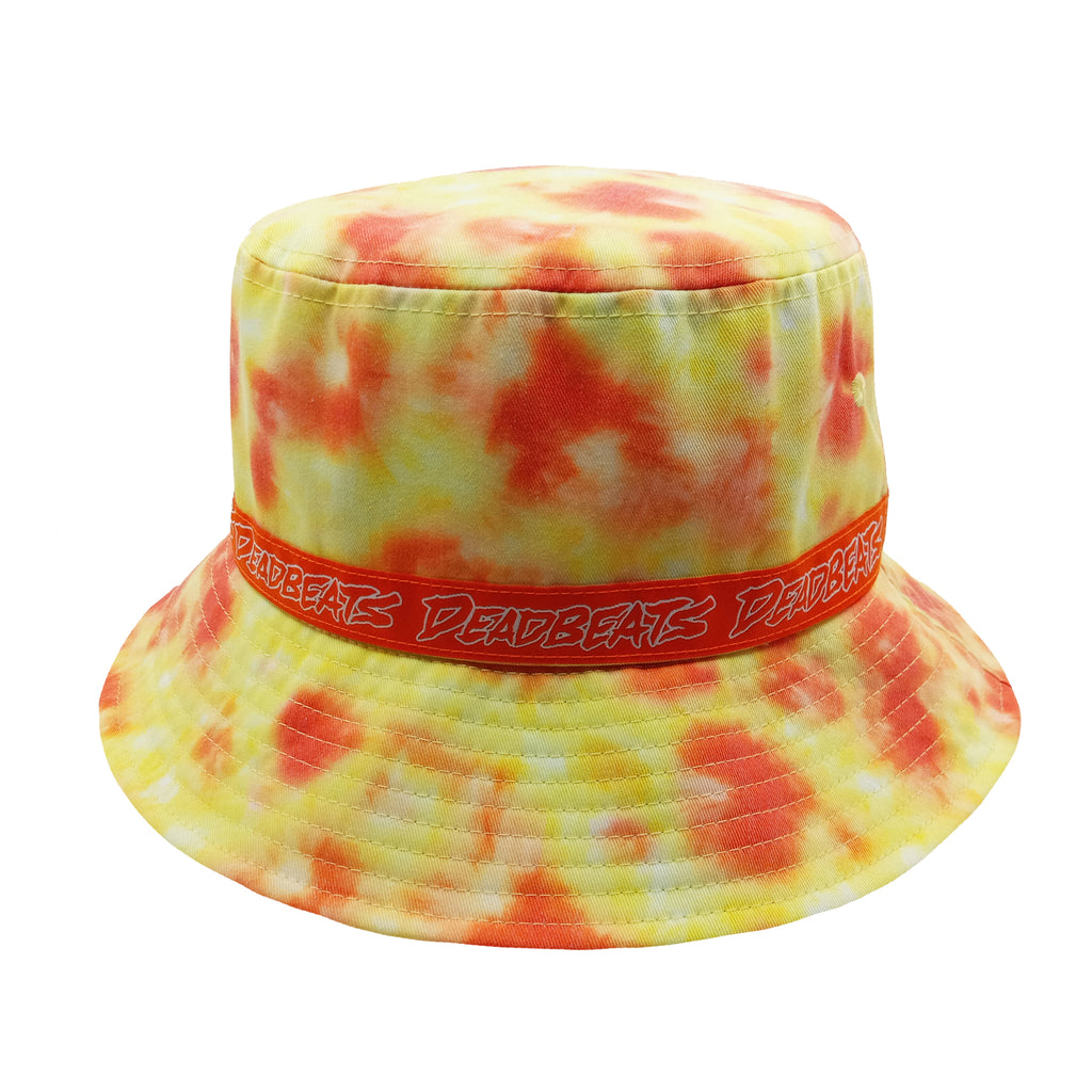 Deadbeats - Orange Tie Dye Bucket Hat
