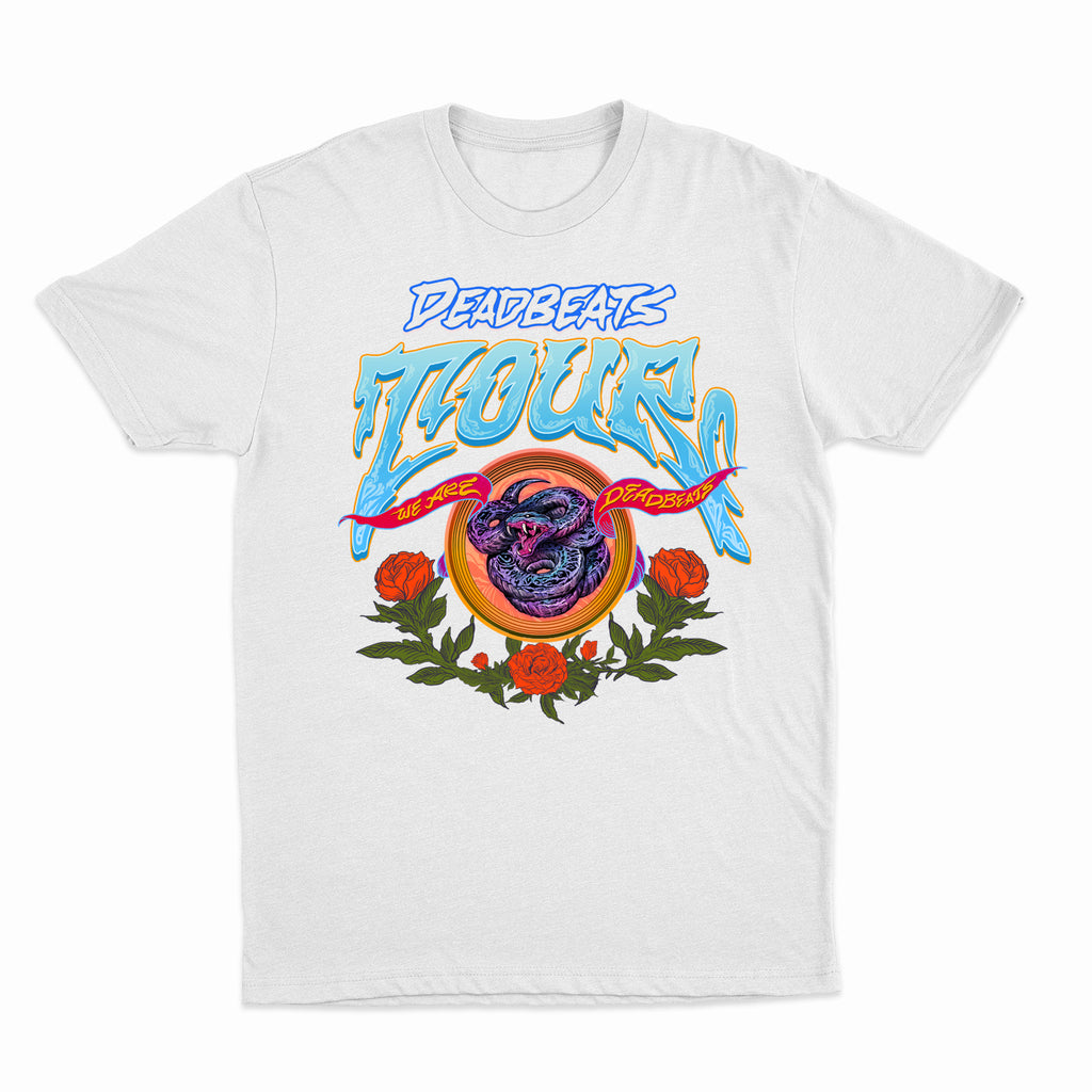 Deadbeats - Deadbeats 2018 Tour - White Tee