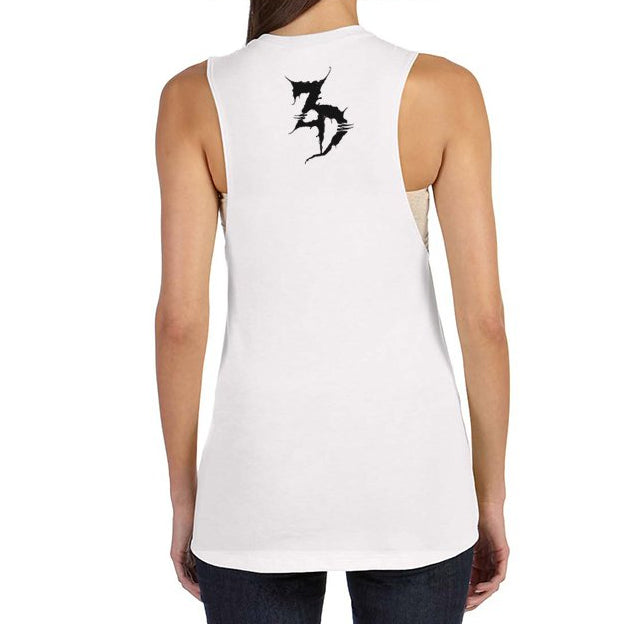 ZD - Me No Care Ladies Flowy Muscle Tank