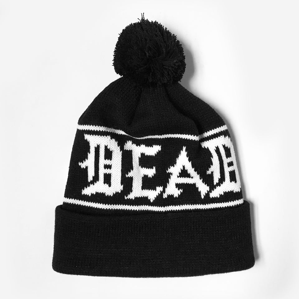 ZD - Crest - Custom Knit Pom Pom Hat - Black