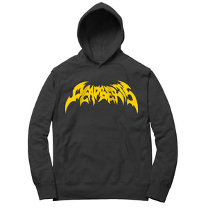 Deadbeats - Metal - Black Pullover Hoodie w/ Yellow Print