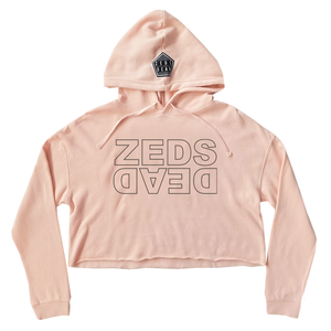 PRE ORDER - ZD - Level Up - Ladies Blush Crop Hoodie