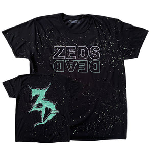 Zeds Dead - Level Up - Glow In The Dark Splatter Tee