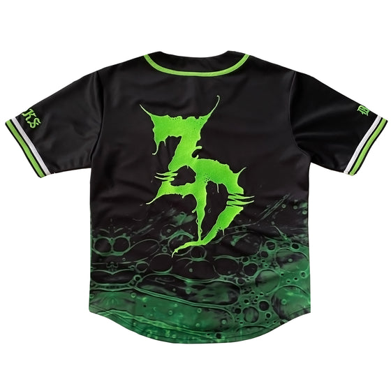 Zeds Dead - Slimed - Limited Edition Baseball Jersey + Face Mask Bundle