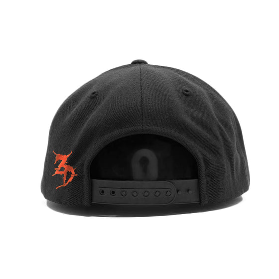 ZD -Staggered- Black / Red Snapback Hat