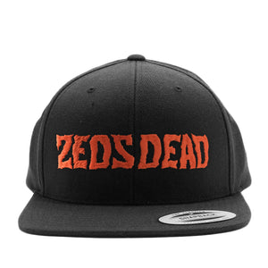 d339fcbb2 ZD -Staggered- Black / Red Snapback Hat – Zeds Dead Official Shop