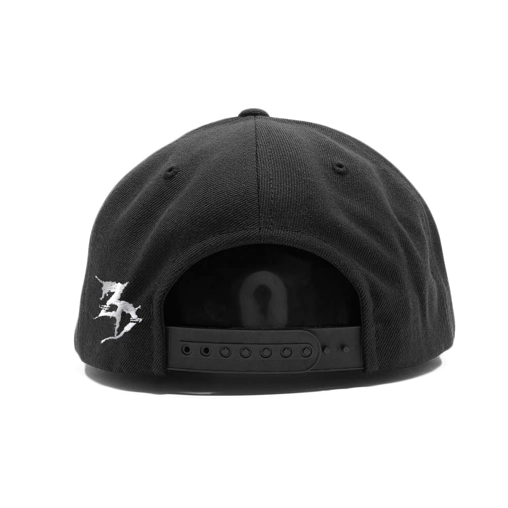 ZD -Staggered- Black / White Snapback Hat