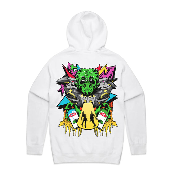 Zeds Dead - Alien - White Pullover Hoodie