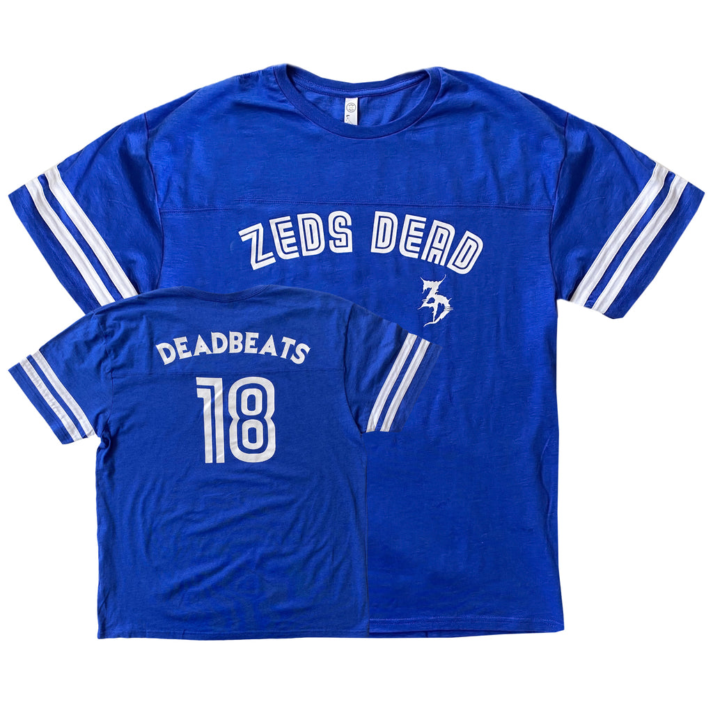Zeds Dead - Deadbeats Tribute II - Royal Blue Ringer Tee
