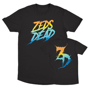 ZD - Wreckless Gradient - Black Long Tee