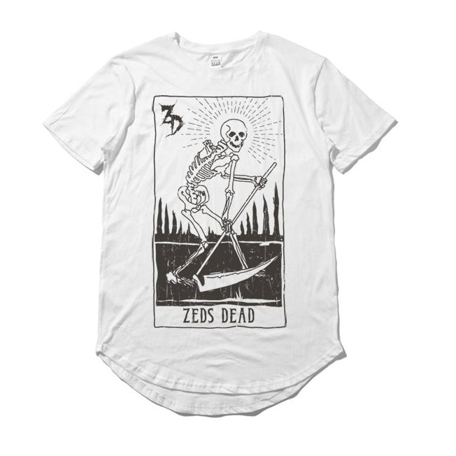 ZD - Tarot Card - White Long Tee