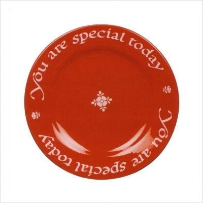 Plate-You Are Special Today-Red Gift Plate