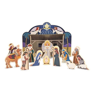 Nativity-Wooden Nativity Set (12 Pieces) (Ages 4+)