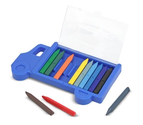 Toy-Truck Crayon Set (12 Crayons) (Ages 3+)