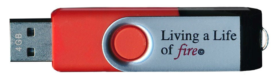 Audiobook-Living A Life Of Fire-USB Flash Drive