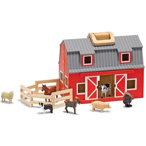 Toy-Fold & Go Barn (10 Pieces) (Ages 3+)
