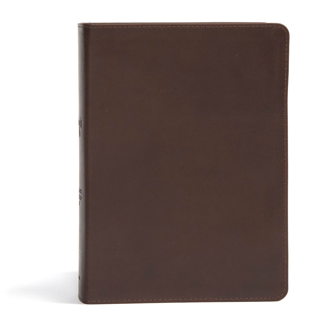 CSB She Reads Truth Bible-Brown Genuine Leather