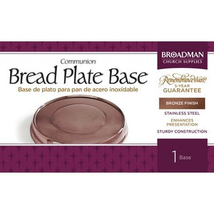 Communion-RemembranceWare-Bronze Stacking Bread Plate Base (Stainless Steel)
