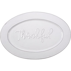 "Serving Platter-Thankful (17.75"" x 12"")"
