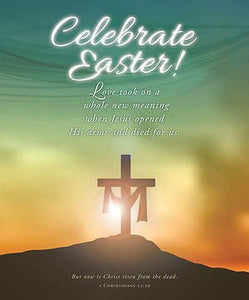 Bulletin-Celebrate Easter! (1 Corinthians 15:20)-Legal Size (Pack Of 100)