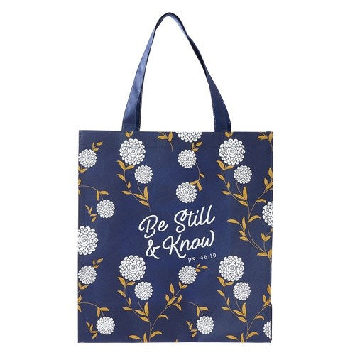 Totebag-Non-Woven-Be Still-Blue Floral