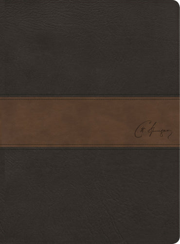 Spanish- RVR 1960 Spurgeon Study Bible (Biblia de Estudio Spurgeon)-Black/Brown Imitation Leather
