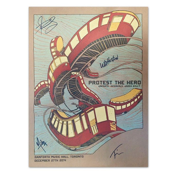 PROTEST THE HERO - Signed Silkscreened Show Poster