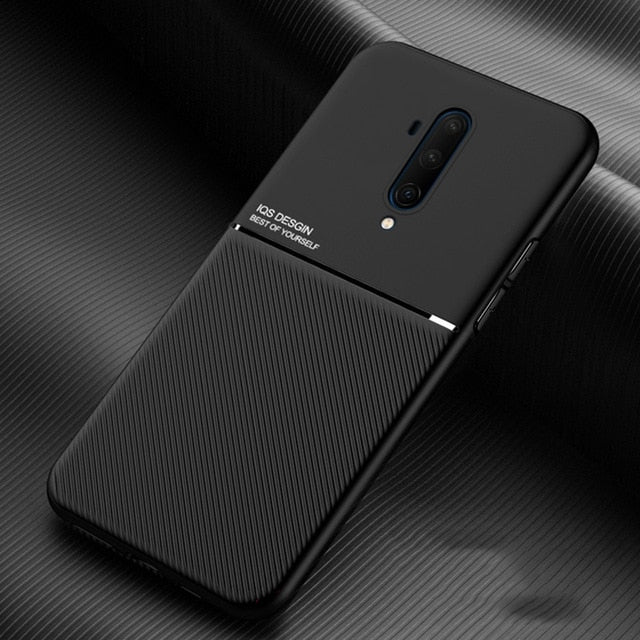 Leather Texture Shockproof Matte Silicone Case For Oneplus 7T 7 8 Pro