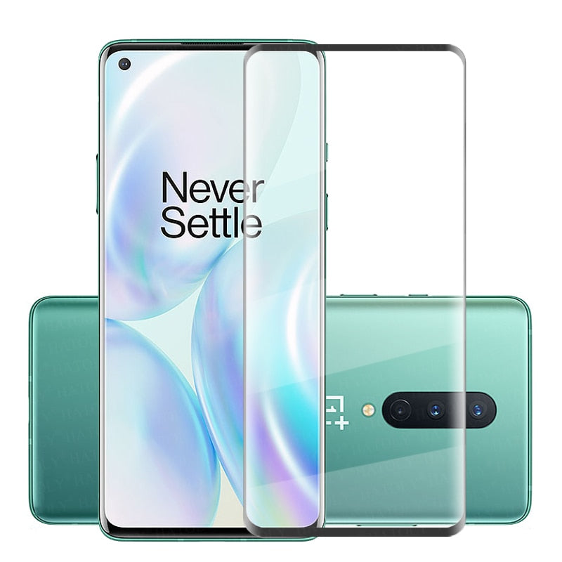 3D Tempered Glass Screen Protector Curved Cover for OnePlus 8 / 8 Pro