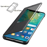 Flip Cover Leather Phone Case Smart View For Huawei Mate 20X