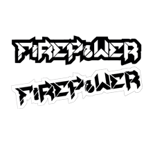 Firepower Die Cut Sticker