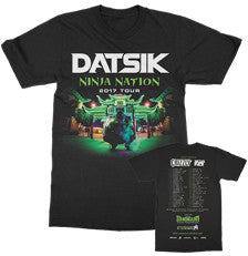 DATSIK - 2017 Ninja Nation - Tour Tee - Black