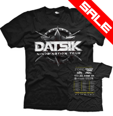 DATSIK - Ninja Nation Tour T-Shirt - Black