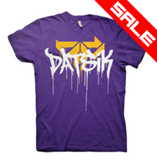 DATSIK Firepower Drip GUYS T-Shirt - Purple