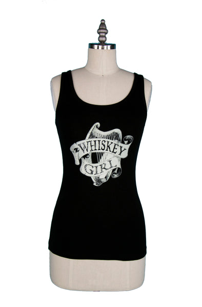 """Irish Whiskey Girl"" Tank Top - Black"