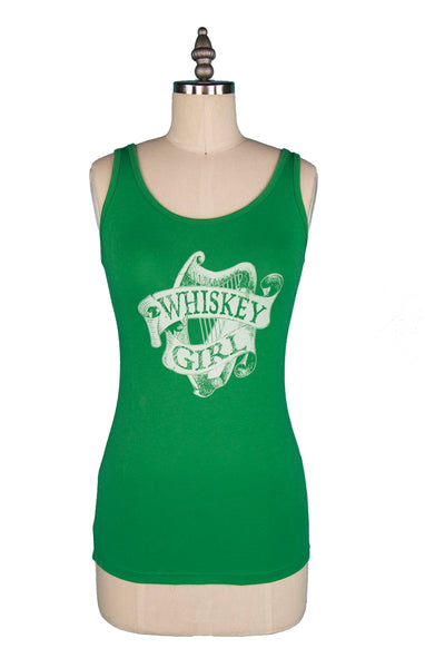 """Irish Whiskey Girl"" Tank Top - Kelly Green"