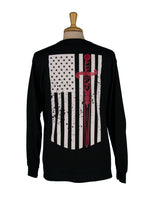 """American Flag/Sword"" Long Sleeve T-shirt"