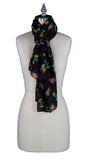 Ladies Scottie Dog Scarf (Black)