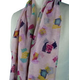 Ladies Scottie Dog Scarf (Pink)
