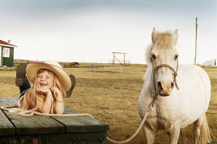 'Cowgirl and Friend', High River Alberta, Canada
