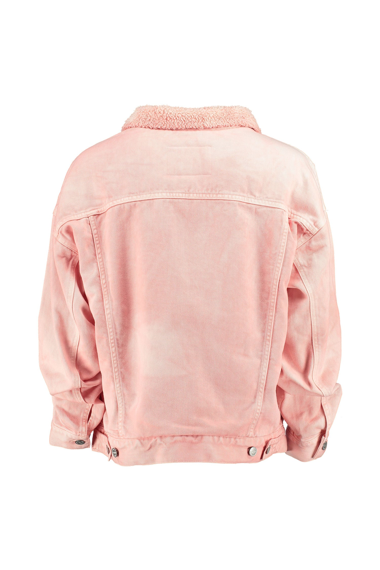 The Shearline Jacket Woman Pink Acid Wash