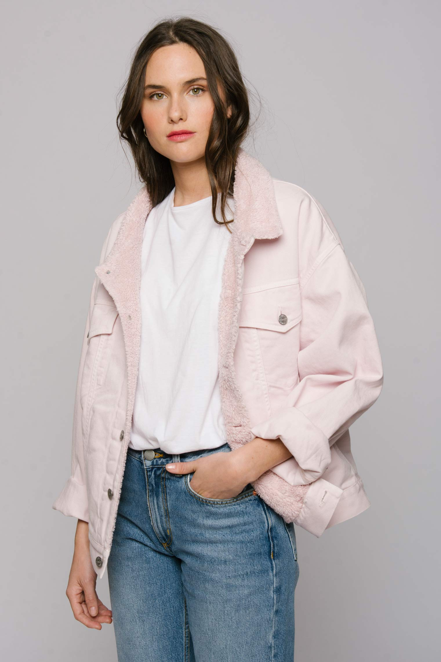 The Shearline Jacket Woman The Perfect Pink